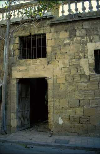 The medieval door on the west façade, 1994