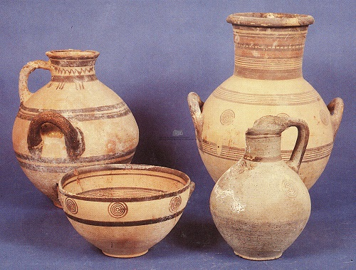 Paphos Archaeological Museum, ancient pottery.