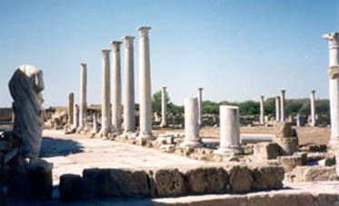 Salamis archaeological site, the Gymnasium.