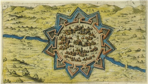 Lefkosia, Venetian map of Nicosia