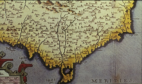 Venetian map of Cyprus, detail of Amathusia area.