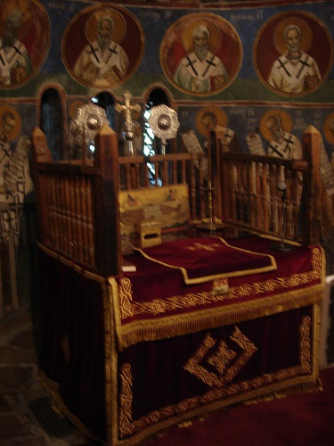 Lagoudera, monastery of Panagia tou Arakos, the Holy Altar.