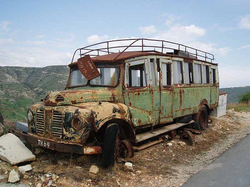 Episkopi Paphou, old bus.