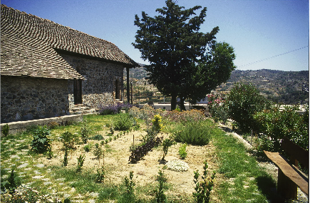 Kyperounta, Church of the Holy Cross, The landscaping of the herbarium.
