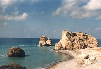 Petra tou Romiou, birth place of Aphrodite.