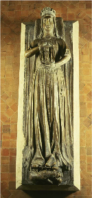 France, Le Mans, Funeral statue of Berengaria in the Abbey of Epeau.