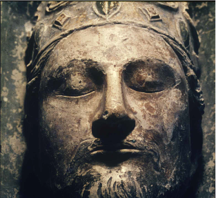 Royal Abbey of Fontevraud, Detail of the funeral statue of Richard I the Lionheart.