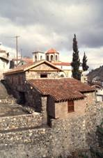 Palaichori, the church and olive mill of Agios Loukas.