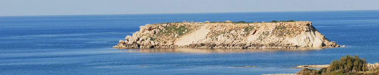 The island of Geronisos at Agios Georgios