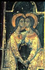 Palaichori, mural at the church of Chrysopantanassa.